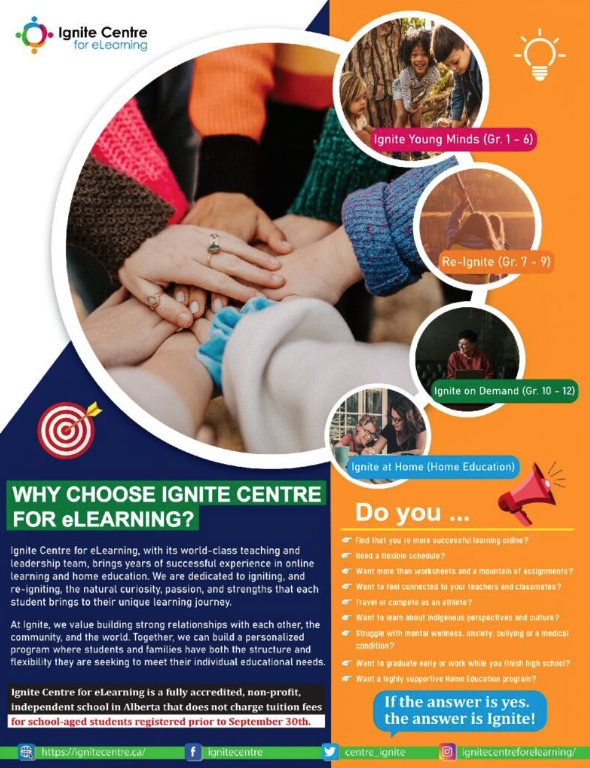 ignite centre one page poster